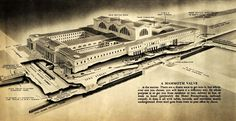 New York Old Penn Station. [Roof Garden! plus, underground concourse to PATH trains!]