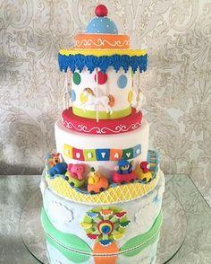O lindo parque do Pocoyo para o 2º aninho do Gustavo  #CoisasDaGriffedoBollo #GriffeDoDollo #BolosDeGriffe #Cake #BolosDecorados  #CakeDesign