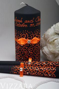 Wedding Unity Candle Set for Halloween Wedding