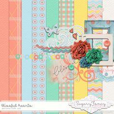 Blissful Hearts mini kit freebie from Sugar Fancy Designs #digiscrap…