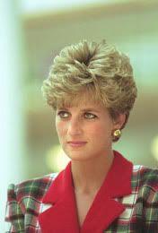 November, 1990:  Princess Diana visiting a Honda factory in Japan.