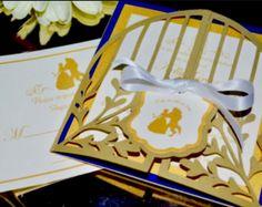 Beauty And The Beast Wedding Invitation Idea