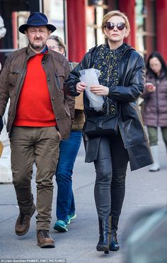 Keeping it short: The actress showed off her new haircut while out with her husband, Andre...