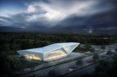 "查看我的 @Behance 项目:""electric car exhibition hall""https://www.behance.net/gallery/46427873/electric-car-exhibition-hall"