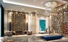 Stunning Lobby Design at Marina Palms Yacht Club, Luxury Waterfront Condominiums Located at 17201 Biscayne Boulevard, North Miami Beach, Flo...