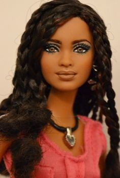 Isla- (pronounced Ees-lah) SIS Trichelle Repaint OOAK Barbie by Doll Anatomy