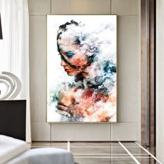 Abstract Nude Art Cloud Women Paintings On Canvas Art Sexy Girl Posters and Prints Wall Art Pictures For Living Room Decor