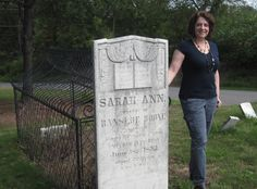 That's me at the caged grave of Sarah Ann Boone.