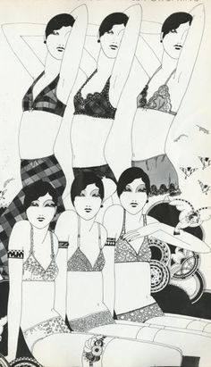 Illustration by Caroline Smith, March 1972, for Vogue UK. Like & Repin. Noelito Flow. Noel Panda http://www.instagram.com/noelitoflow