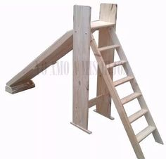 Indoor Play Equipment, Backyard Treehouse, Modern Wooden Furniture, Diy Slides, Diy Ladder, Easy Wood Projects, Kids Wood, Diy Recycle, Garden Toys