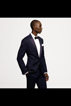 J. Crew men's midnight blue tuxedo