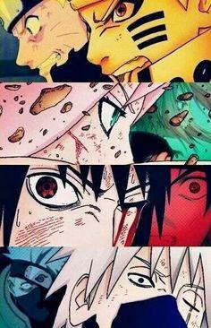 #Naruto Sakura Sasuke & Kakashi team 7