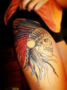 Indian tattoo maybe a face, instead of skull though..