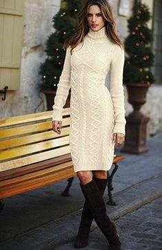 Apricot Cable Knit High Neck Sweater Dress – CHICSYOU Source by hpkraehenbuehl dress Mode Outfits, Dress Outfits, Fashion Dresses, Casual Dresses, Dress Shoes, Shoes Heels, Long Sleeve Sweater Dress, Knit Sweater Dress, Fashion Now