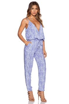 689bf1957ee8 Splendid Etched Arrow Print Jumpsuit in Viola Arrow Print
