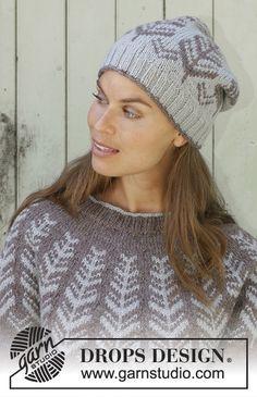Knitting Patterns Free, Free Knitting, Free Pattern, Crochet Patterns, Drops Design, Drops Karisma, Knit Crochet, Crochet Hats, Knit In The Round