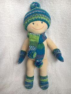 43 cm handmade royalblau Socken / Söckchen für JAKO-O Krümel
