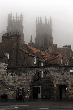 Foggy day, York England