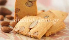 Μπισκότα σαμπλέ με αμύγδαλα Snack Recipes, Snacks, Gingerbread Cookies, Dairy, Chips, Food And Drink, Gluten Free, Sweets, Cooking