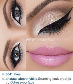 Glitter. Pink. Eyeliner. Aqua.