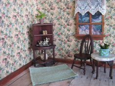 German Red Stained Furniture for Doll House  Corner by TheToyBox