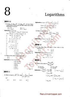 NDA Maths Previous Years Questions with Solutions Logarithms Class 12 Maths, Trigonometric Functions, Maths Solutions, Previous Year Question Paper, India Facts, Math Problem Solving, Math Formulas, Math Vocabulary, Math Questions