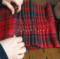 Make a Kilt for a Loved One - Short Course – The Edinburgh Kiltmaking Academy Course Schedule, Short Courses, Unique Presents, Kilts, Piece Of Clothing, Edinburgh, Plaid Scarf, Tartan, Hand Sewing