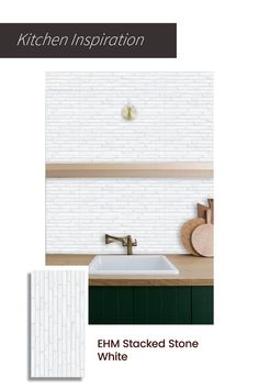 A reimagined wall pattern that's taking the decor world by storm. Get these ceramic wall tiles to create a sophisticated and serene backdrop for your kitchen. Upload your kitchen photo to trial0ok and see how this or other tiles will look in your space. #walltiles #stone #white #wallaccents #tiles #kitchen #walltrends