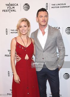 Actors Sienna Miller and Luke Evans attends 'High-Rise' Premiere - 2016 Tribeca Film Festival at SVA Theatre 2 on April 20, 2016 in New York City.