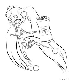 Harley quinn coloring pages to download and print for free ...