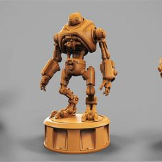 Eddie was designed in Zbrush, and printed on a Pegasus Touch SLA resin printer. He& tall, and painted using an airbrush, and weathering techniques. Added process video at the bottom Robot Concept Art, Environment Concept Art, Game Character Design, 3d Character, Futuristic Robot, Humanoid Robot, Arte Robot, Retro Robot, Dungeons And Dragons Homebrew