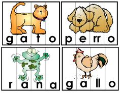 Spanish puzzles for lower grades Dual Language Classroom, Bilingual Classroom, Bilingual Education, Spanish Classroom, Classroom Rules, Kindergarten Lesson Plans, Kindergarten Literacy, Preschool Activities, Spanish Lesson Plans