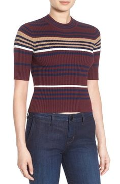 Create a look that's totally a blast from the past in this '70s inspired crop sweater.