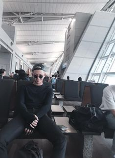 Waiting for you airplane and see Namjoon sitting in front of you *dies*