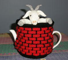 Justjen-knits: Justjen's Fester the Goat in the Well Tea Cosy