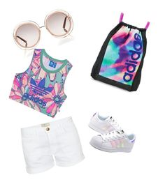 """""""#no title"""" by calesiadupree on Polyvore featuring Current/Elliott, adidas, Chloé and adidas Originals"""