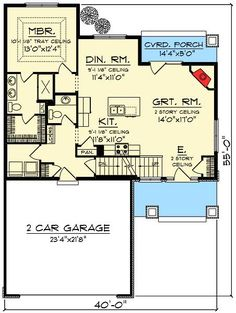 3 Bedroom With Great Room - 89983AH | 1st Floor Master Suite, CAD Available, Craftsman, Narrow Lot, Northwest, PDF | Architectural Designs