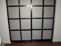 Picture of Shoji style sliding closet doors, from scratch.