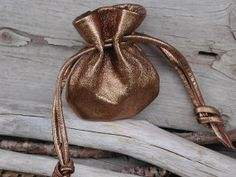 Handmade Leather Mini Drawstring Pouch Bag by Shirlbcreationstoo, $14.00