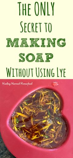 Do you want to make your own handmade soap but are worried about using lye? That's a common fear about soap making many have when they are first beginning to learn to make soap. So....can you make soap without using lye? The answers are: Yes. and No. Find out the ONLY secret to making handmade soap without using lye here. #soapmaking