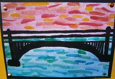some of beautiful bridge silhouettes Lesson Background: My class have been engaged in a Technology unit for the past few week. Bridge Drawing, Line Drawing, Warm Colors, Colours, Your Sky, Water Background, Led Pencils, Handprint Art, Art Lessons Elementary