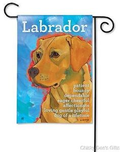 BreezeArt Garden Flag Yellow Lab dog Labrador Retriever NEW