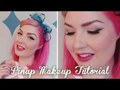 See how I do my full vintage / modern pinup make up look, complete with false lashes! If you'd like to see full, in depth tutorials on eyeliner flicks and pi. Vintage Makeup, Retro Makeup, Vintage Beauty, Vintage Modern, Pin Up Makeup, Makeup Looks, Pinup, Eyeliner Flick, Vintage Hairstyles Tutorial