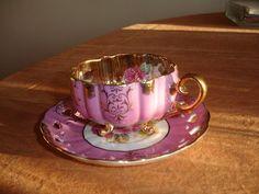 Terra pink Teacup and Saucer