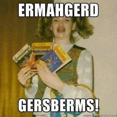 ERMAHGERD! R. L. Stine flummoxed by 'GERSBERMS' meme - TODAY.com