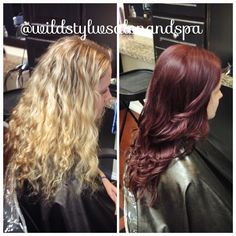 BEAUTIFUL before and after done by the amazing Skye Moore here at Wild Style Salon and Spa here in Farmington Utah. book your appointment today! 801-451-7789  for more picture like this and more check out our instagram @wildstylesalonandspa and our Faceook https://www.facebook.com/pages/Wild-Style-Salon-Spa/200100025878 for information about our lovely salon check this out! http://wildstylesalon.com/ #skyelarcademoorewildstyle #wildstylesalon #beforeandafter #haircolor