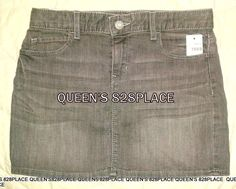 9246ce1d5f Details about Gap Kids Girls Denim Jean Skirt Gray Size 6 Slim Mini Stretch