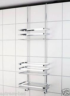 duschkorb mit haken eckregal mit haken zur befestigung an einer glaswand f r linke oder rechte. Black Bedroom Furniture Sets. Home Design Ideas