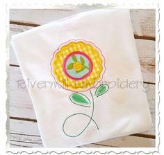 $2.95Applique Flower Machine Embroidery Design (