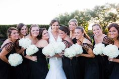 Bride and bridal party glam